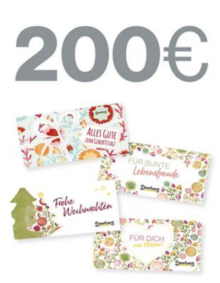 Geschenkgutschein 200 € - Lebensfreude Lebensfreude