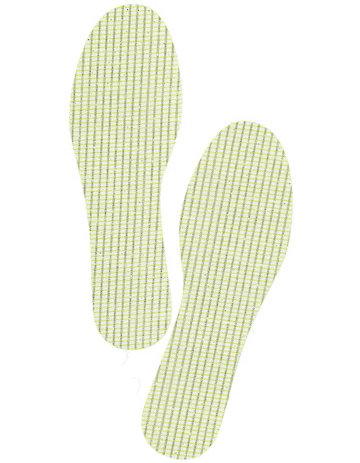 Bergal Fußbetten Latex-Einlegesohle gelb