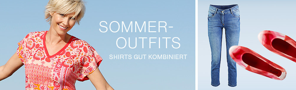 Tolle Sommer-Outfits - T-Shirts gut kombiniert